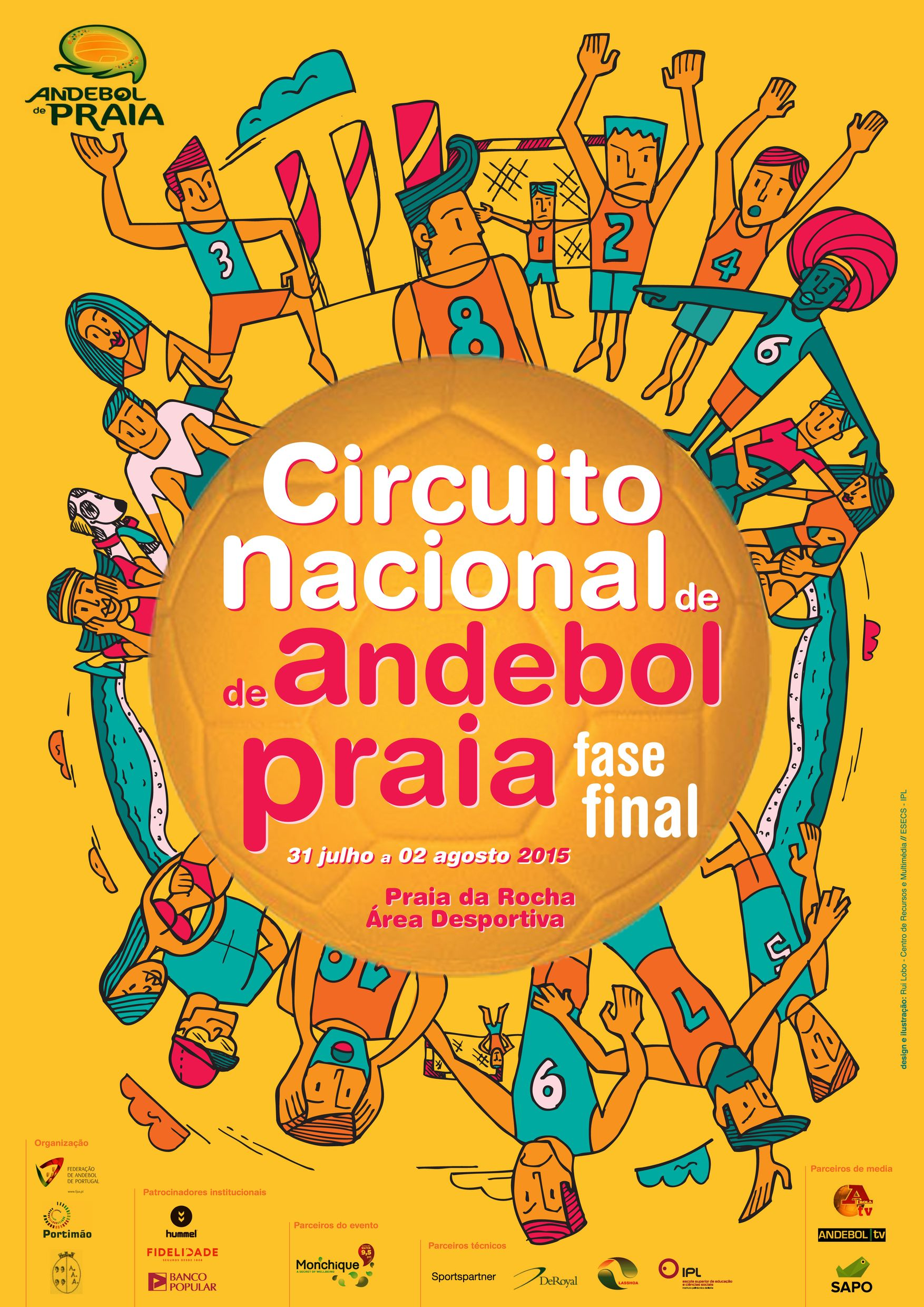 Cartaz Andebol Praia Fase final